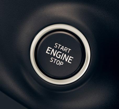 Tlačítko Start ENGINE Stop u Škody Superb