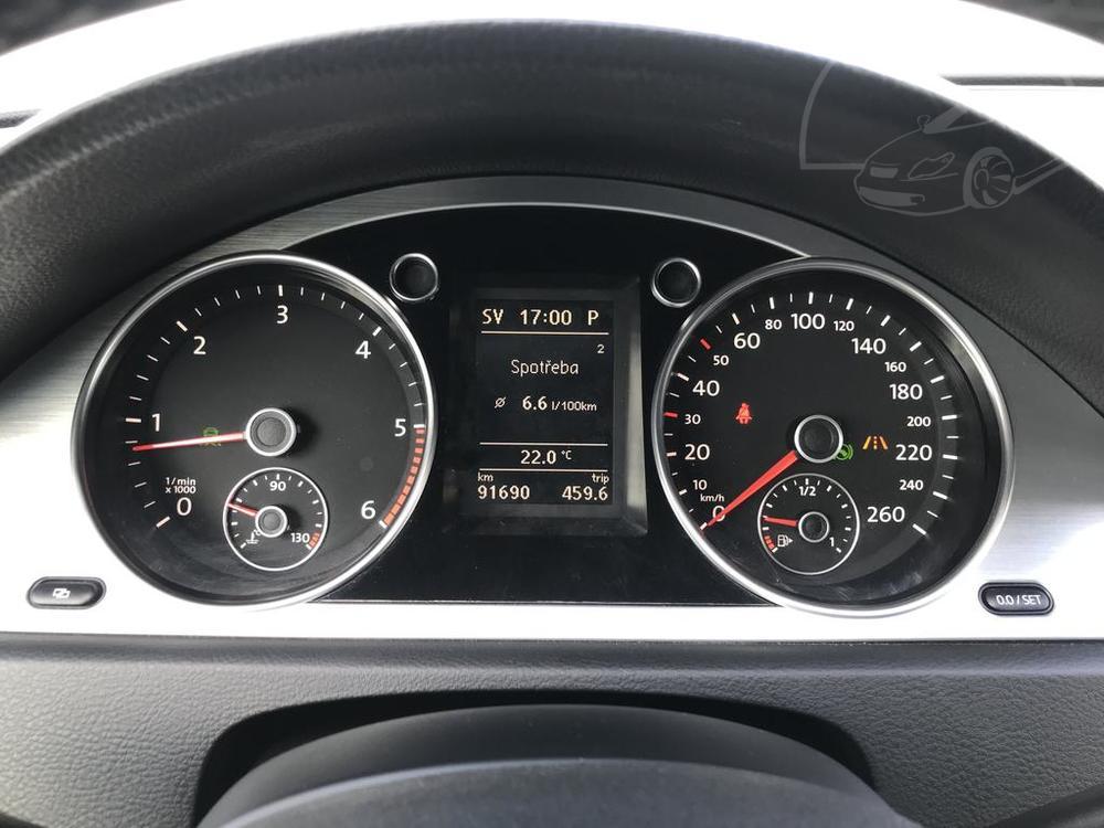 Interiér, budíky - Volkswagen Passat 2.0 TDI, 125 kW, DSG, výbava Highline B, rok 2009, najeto 91.000 km