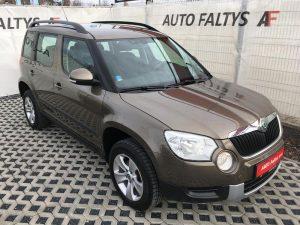 Škoda Yeti, rok 2011, 4x4, hnědá metalíza, pohled na karoserii, bazar Auto Faltys