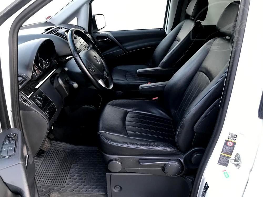 Mercedes Viano 3.0 CDI na prodej, rok 2014, přední černá kožená sedadla, 165 kW, automat, bazar Auto Faltys