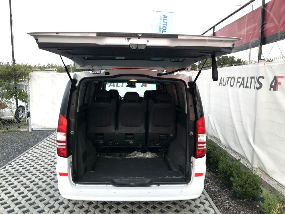 Mercedes Viano 3.0 CDI na prodej, rok 2014, 165 kW, automat, pohled do prostorného zavazadlového prostorubazar Auto Faltys