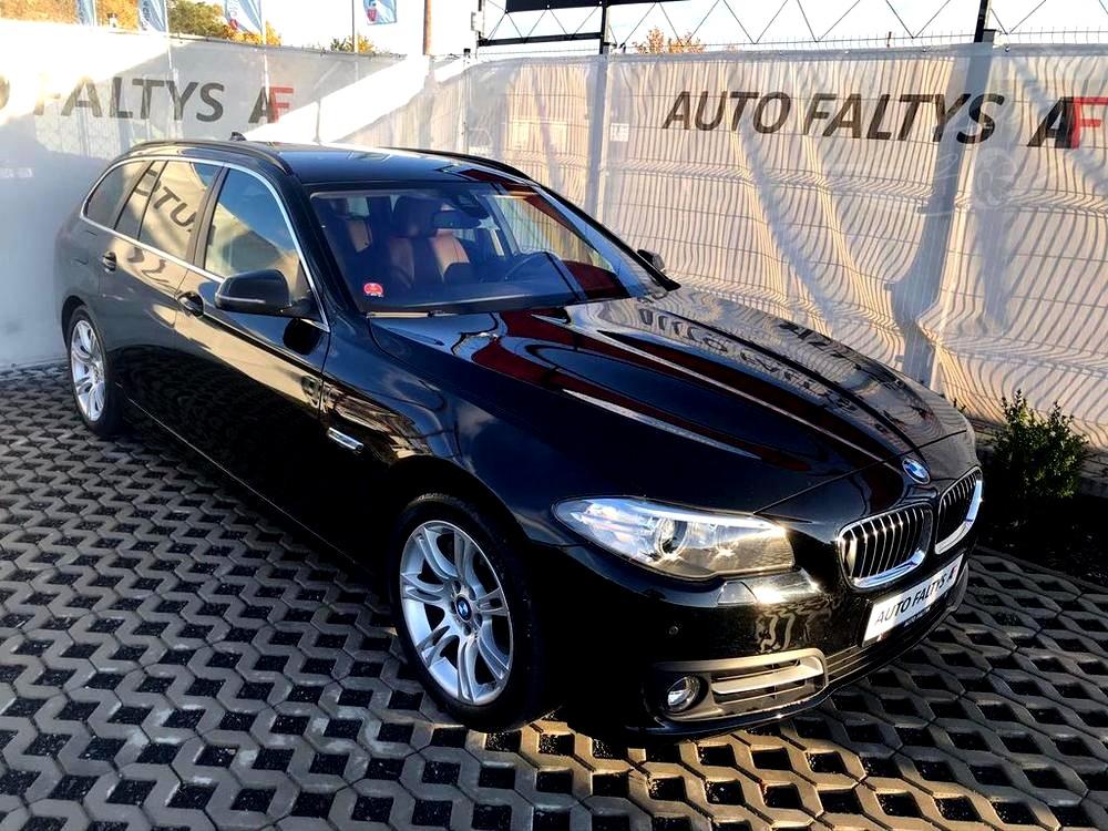 Černé BMW 530d kombi, rok 2015, xDrive (4×4), 190 kW, po prvním majiteli